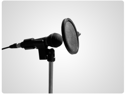 narrator mic recording studio