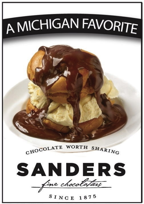 Sanders Hot Fudge Cream Puff