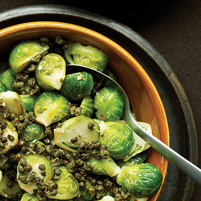 brussels sprouts and fried capers