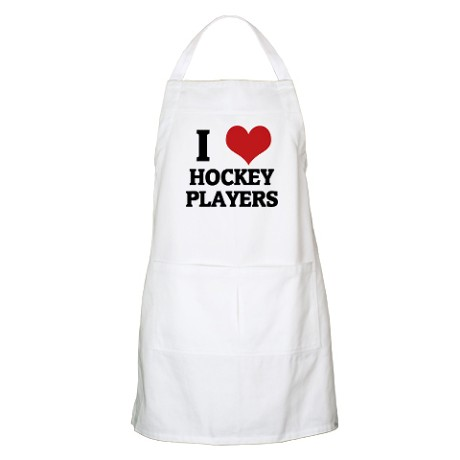 I love hockey players apron