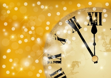 new years eve clock