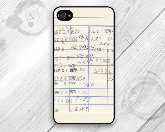 library card catalog phone case
