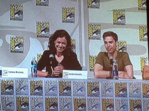 Tatiana Maslany and Jordan Gavaris (Orphan Black) SDCC 2014