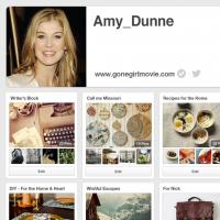 #GoneGirl's Amy Dunne's Pinterest Profile