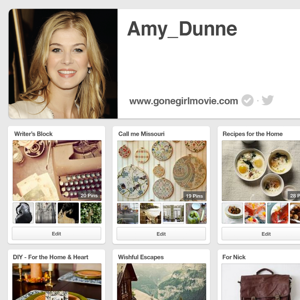 Amy Dunne Pinterest Page