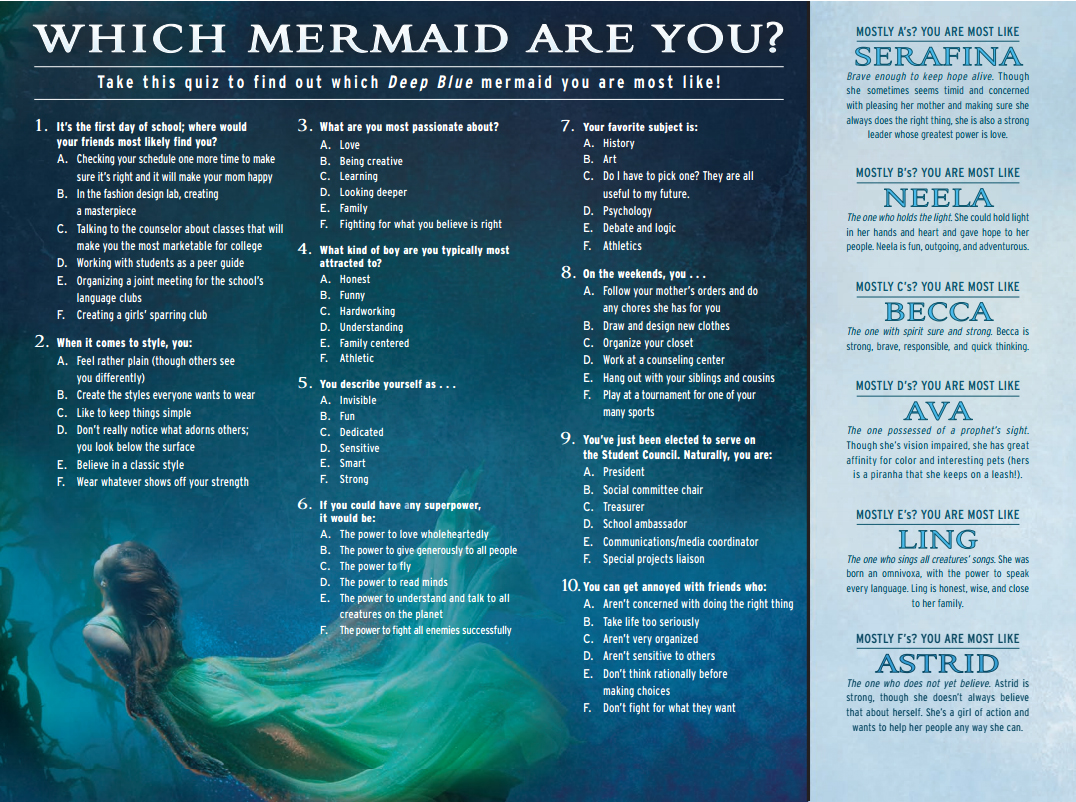Which Mermaid are you? Rogue Wave
