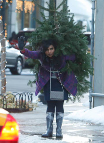 the mindy project christmas charlie brown christmas tree