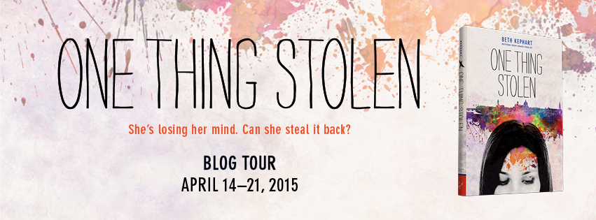 One Thing Stolen blog tour banner