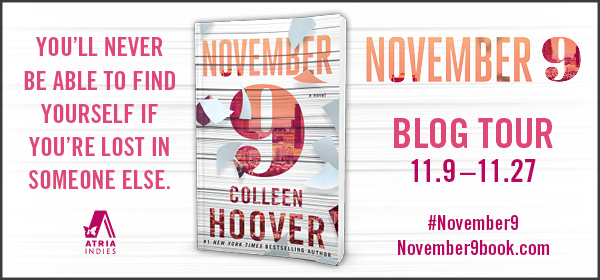Blog Tour: November 9 by Colleen Hoover