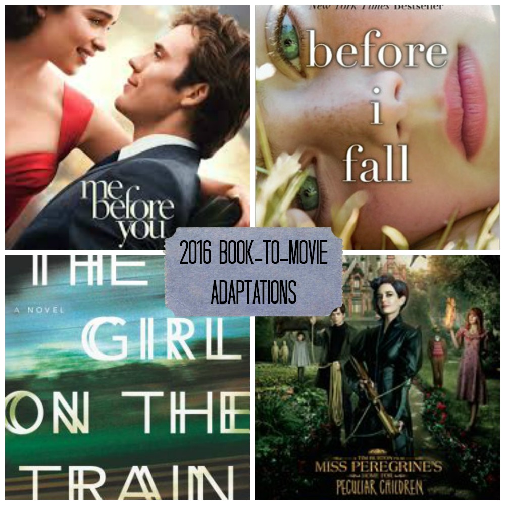 2016 book to movie adaptations