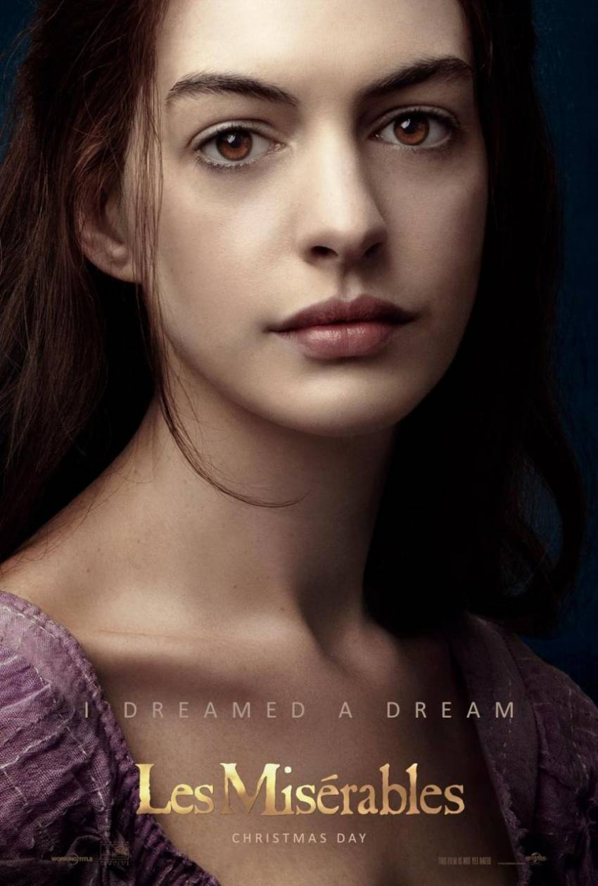Les Miserables Anne Hathaway poster