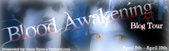 Blood Awakening blog tour banner