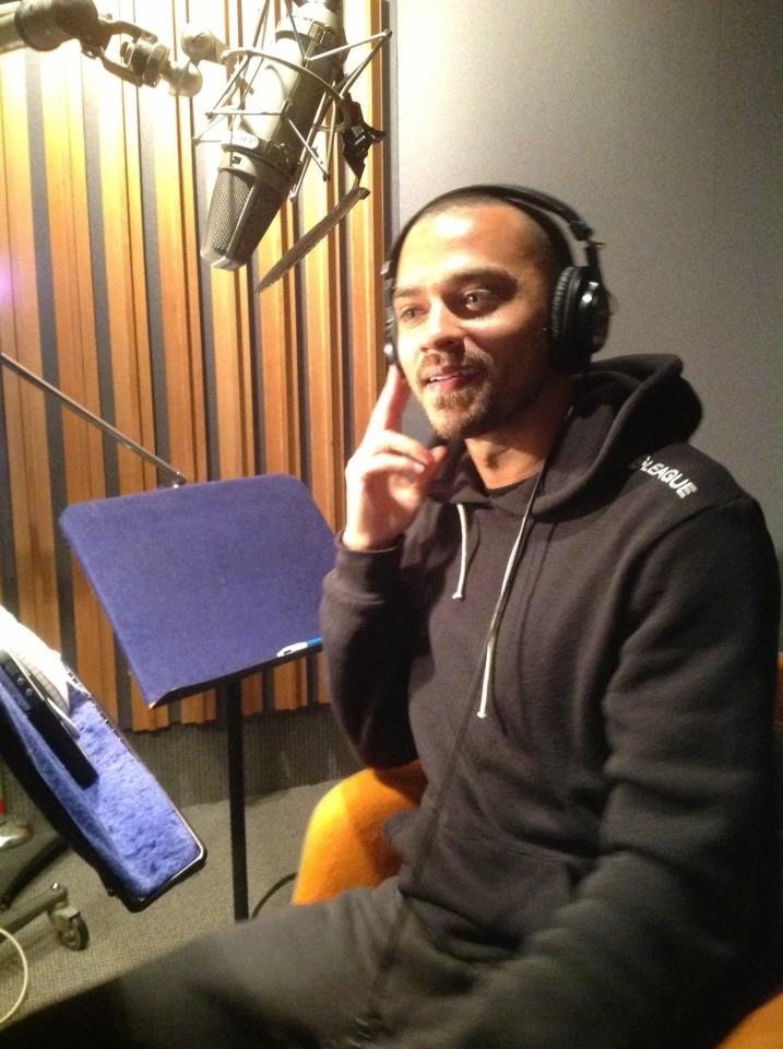 Jesse Williiams recording The Bane Chronicles