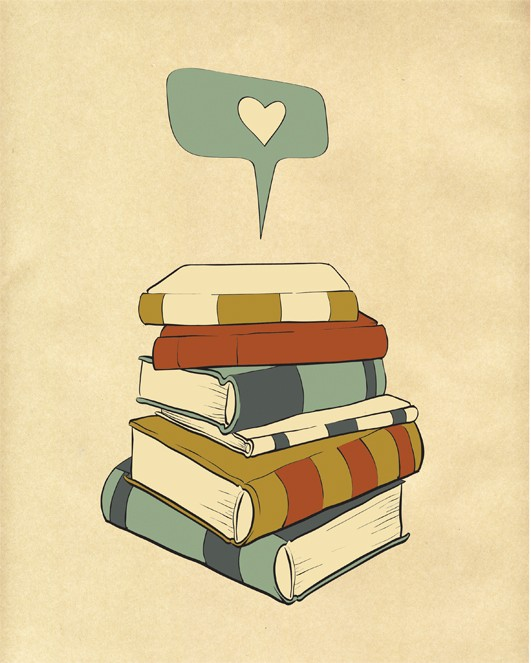 """I Read"" digital illustration from ParadaCreations, etsy.com"