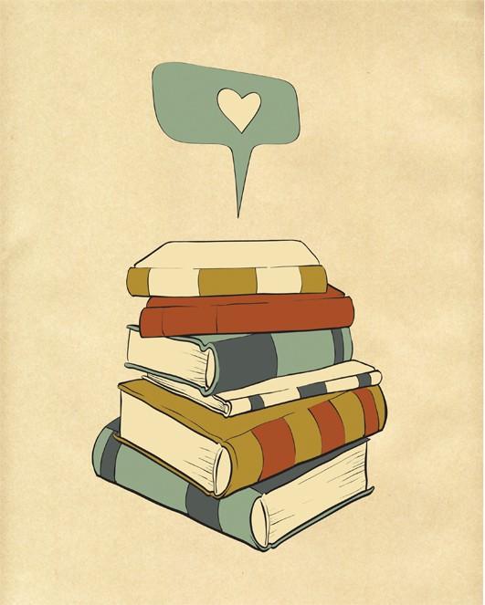 """""""I Read"""" digital illustration from ParadaCreations, etsy.com"""