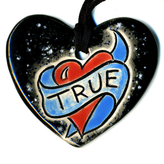 True ceramic heart surly etsy