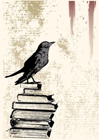 Raven book grunge
