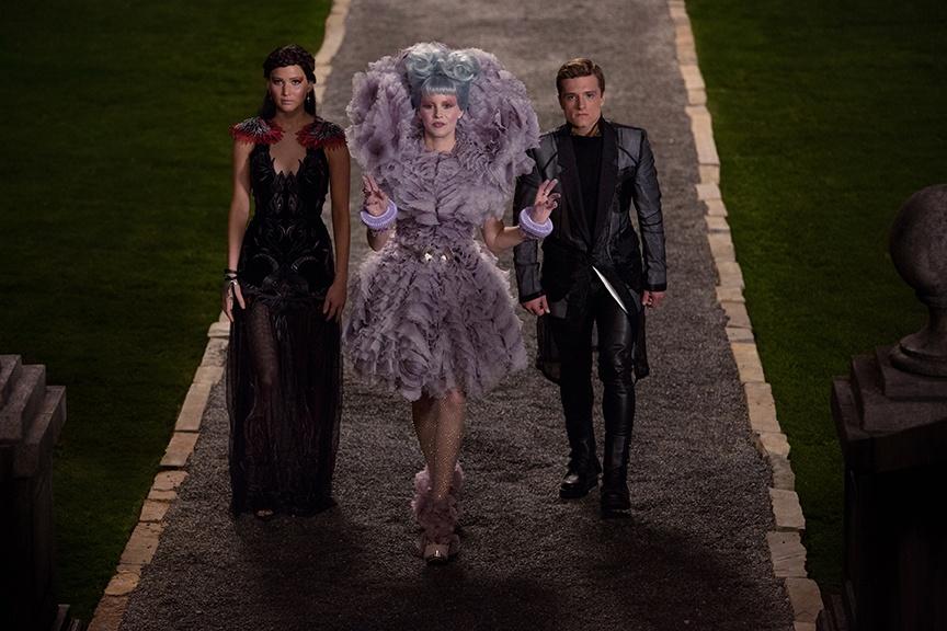 Jennifer Lawrence, Elizabeth Banks, Josh Hutcherson. Photo credit: Lionsgate
