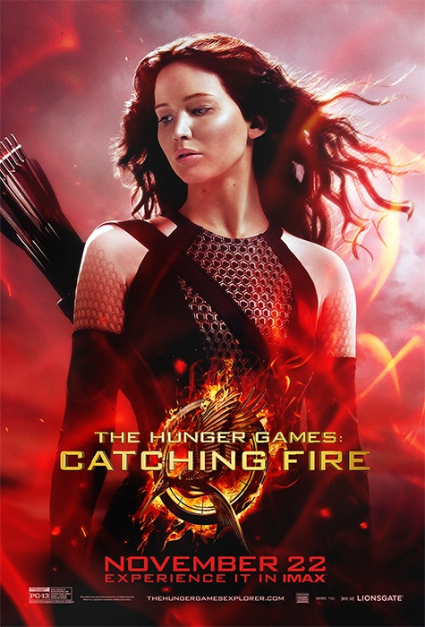 Catching Fire Katniss movie poster