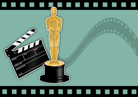 oscars film strip green