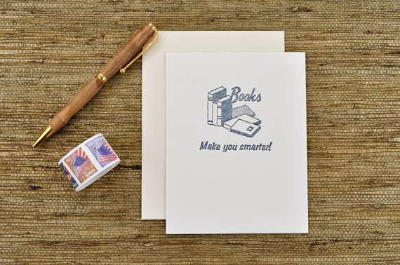literary greeting card