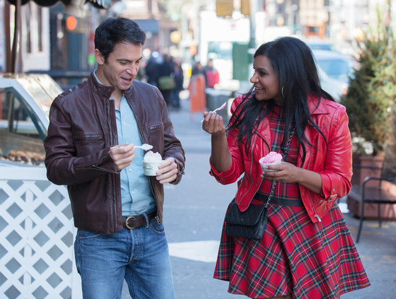Chris Messina and Mindy Kaling as Danny and Mindy
