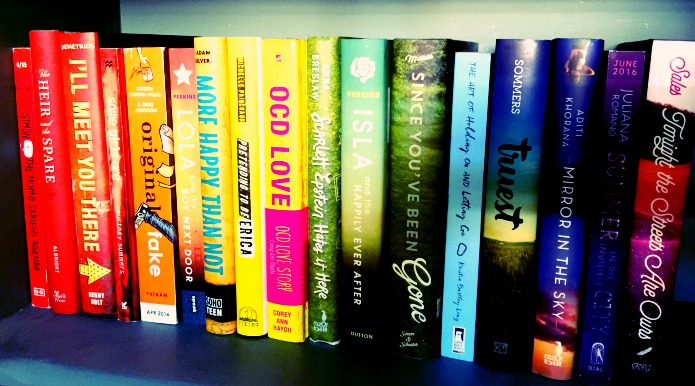 Furthermore rainbow book spines