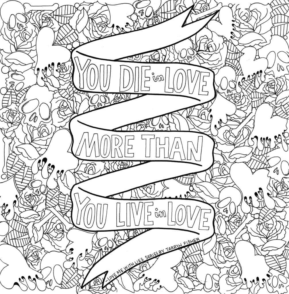 Love Between the Lines: An Adult Coloring Book for Book ...